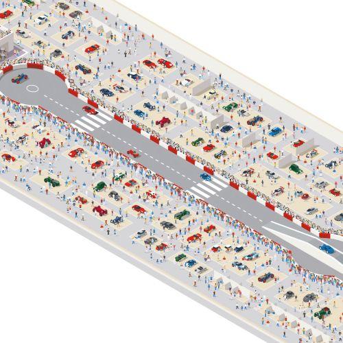 Vector illustration of car racing track