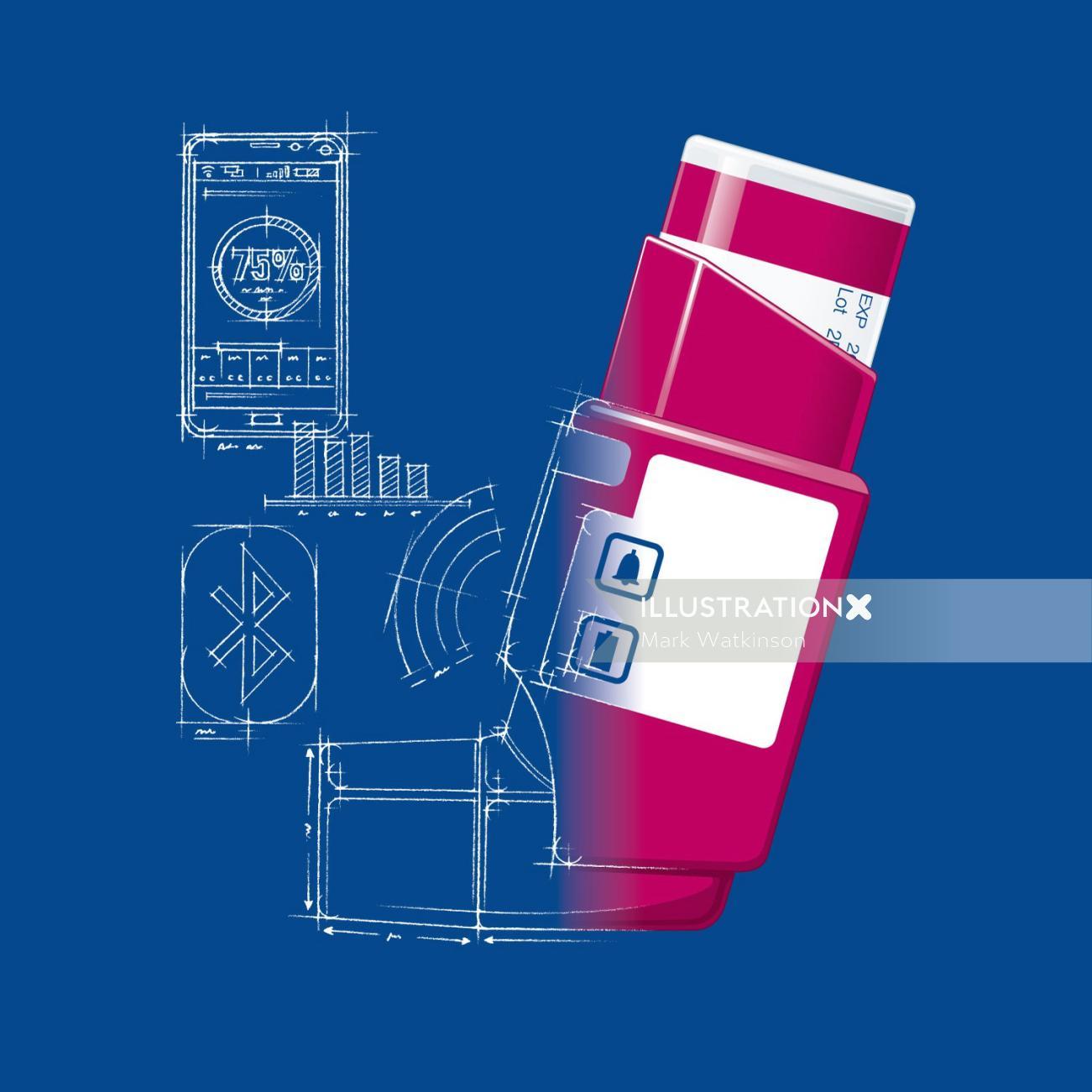 Communication illustration of mobile applications