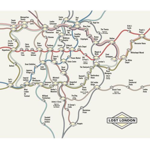 Lost London vector map illustration