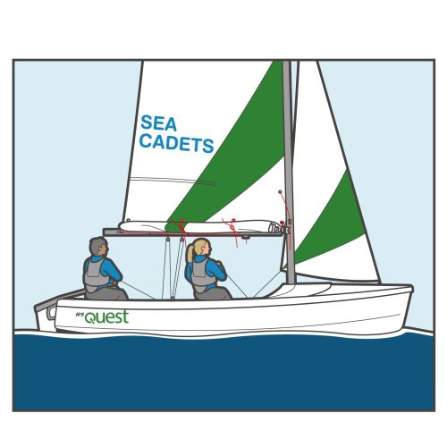 Sea cadets transport illustration