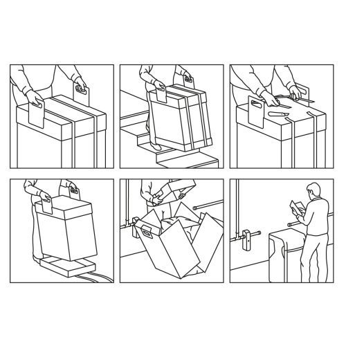 Line art of box opening