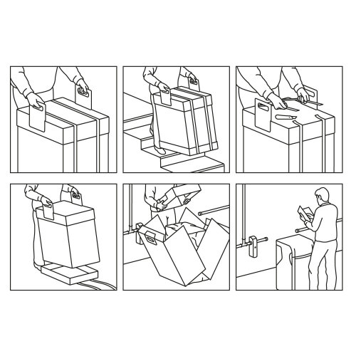 Line art of box opening