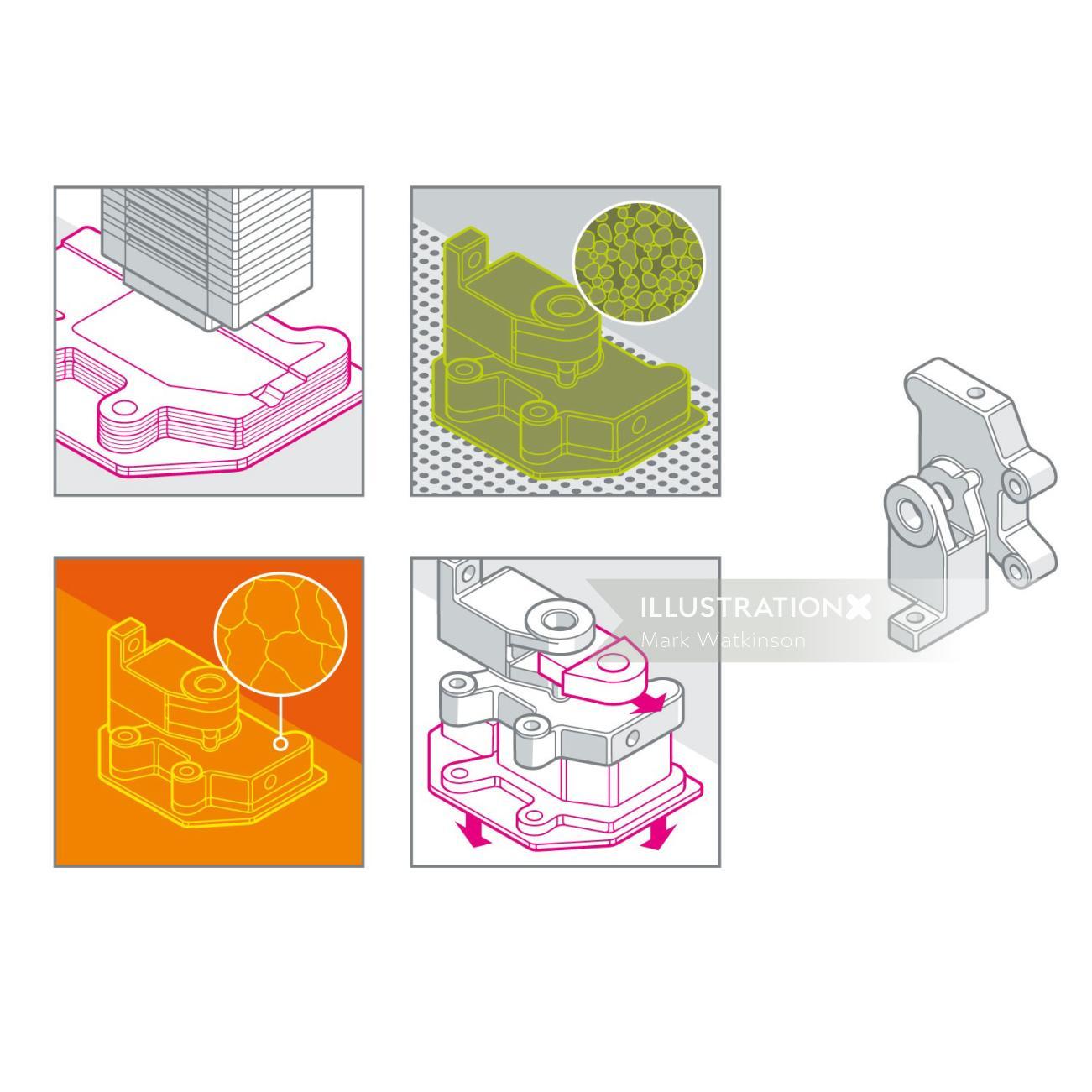 Micro Machines technical illustration