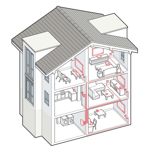 Vector art of home electricity connection