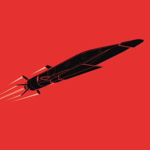 Technical illustration of rocket