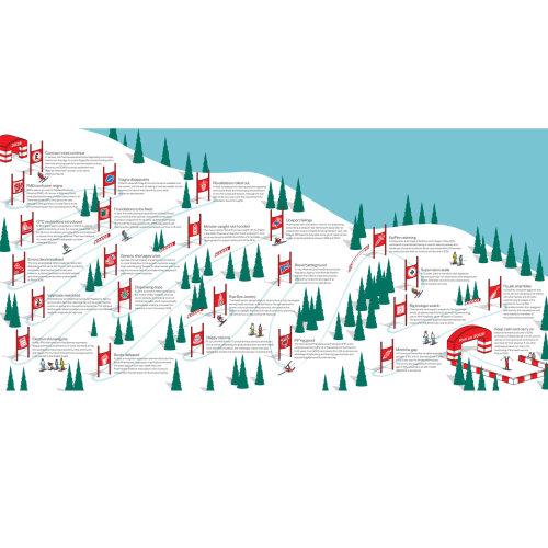 Snow mountain vector illustration