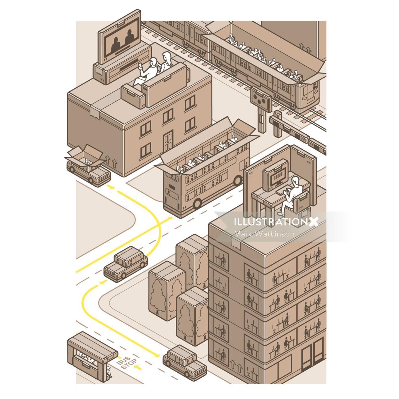 Vector architecture illustration by Mark Watkinson
