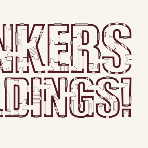 Graphic lettering of Bunker buildings