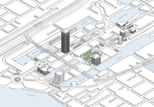 Canary wharf map illustration