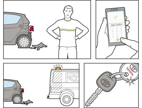 Infographic design of car repairing services