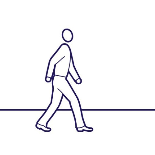 Line animation of safety walking