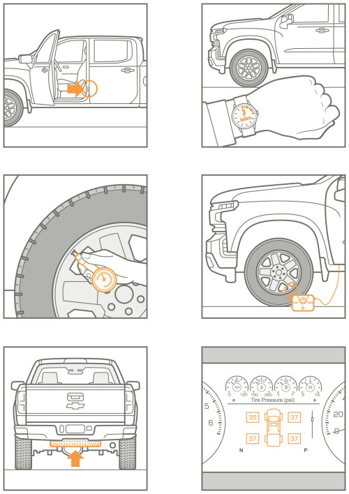 Infographic design of car tires service
