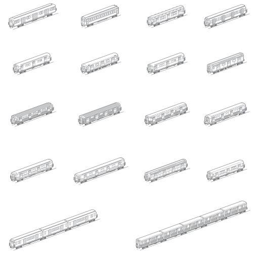 Line design of Train transport