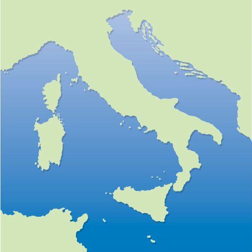 Map illustration of Mediterranean sea