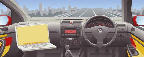 Car steering wheel vector illustration