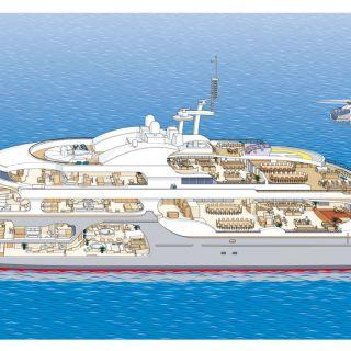 Cutaway ship illustration by Mark Watkinson