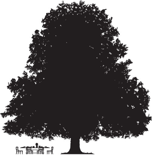 Tree graphic silhouette illustration by Mark Watkinson