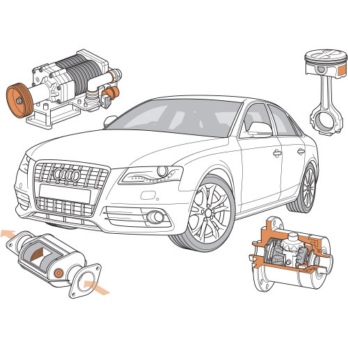Technical illustration of car automobile