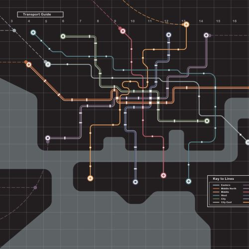 Vector map of underground