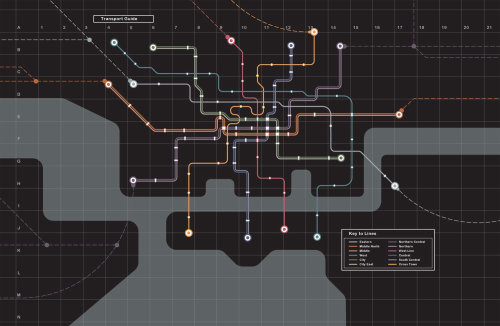 Vector map of underground