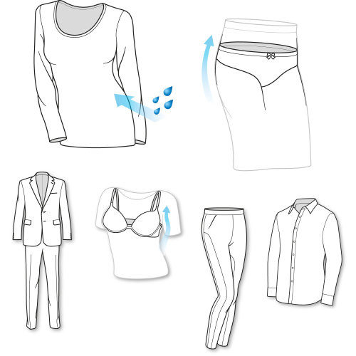 Line art of clothes
