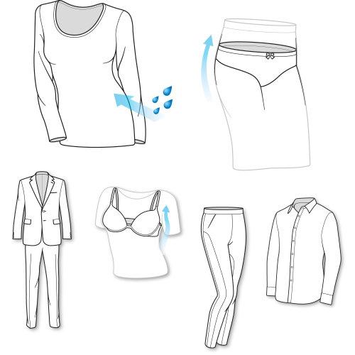 Line art of clothes