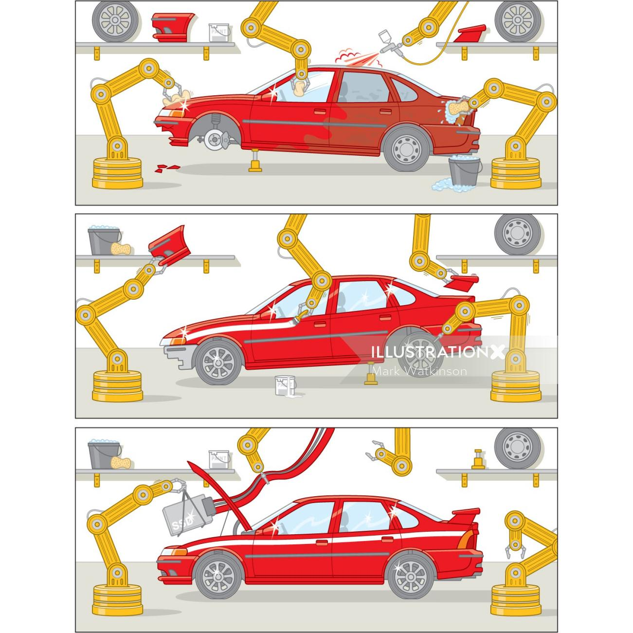 Vehicle Refurbishment Transport graphic