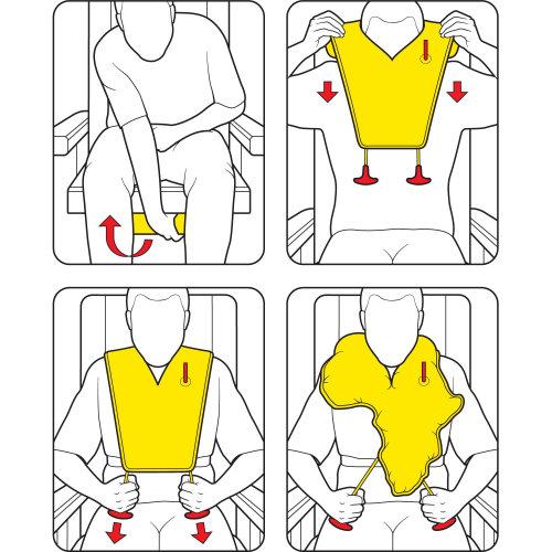 Flight Safety Card line graphic