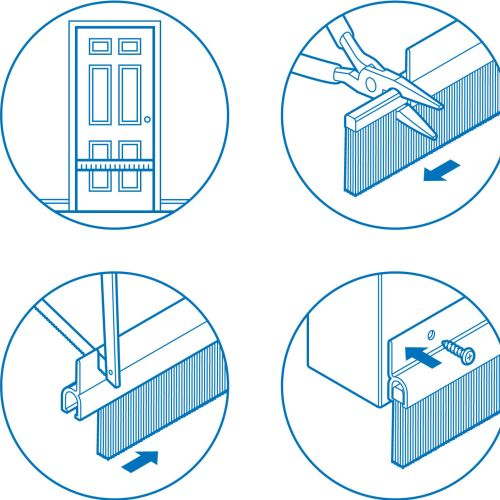 Infographic art of step by step fixing door
