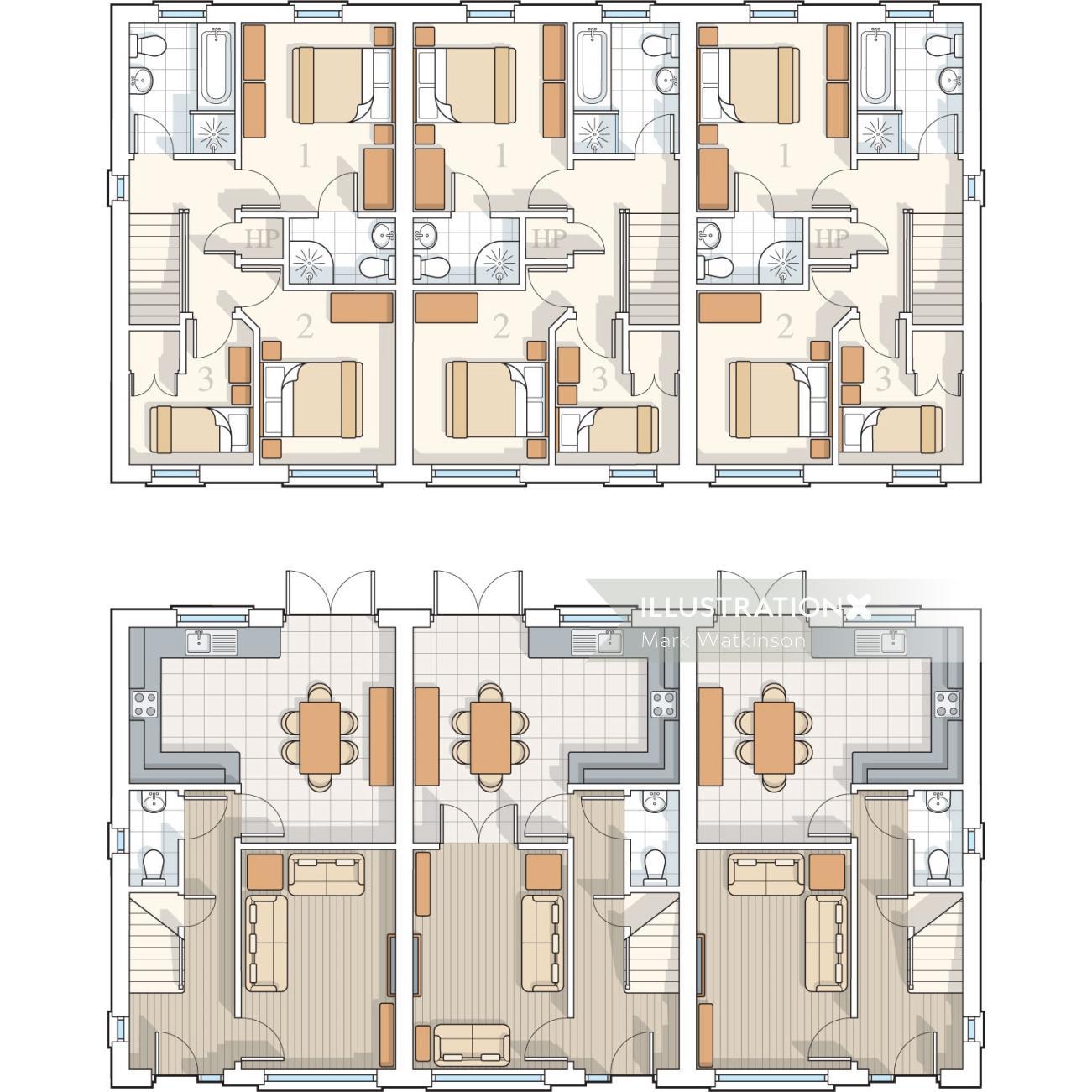 Building planing illustration by Mark Watkinson