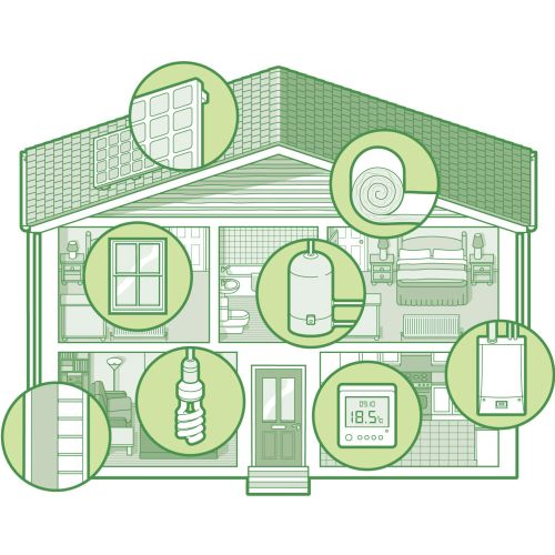 House Cutaway infographic design