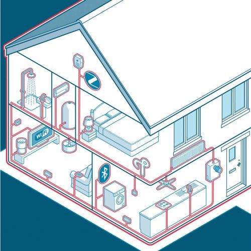 House underground system vector illustration