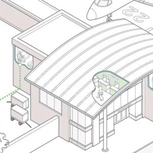 Airport architecute design by Mark Watkinson