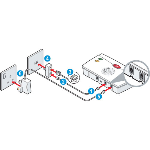 Broadband connection vector illustration