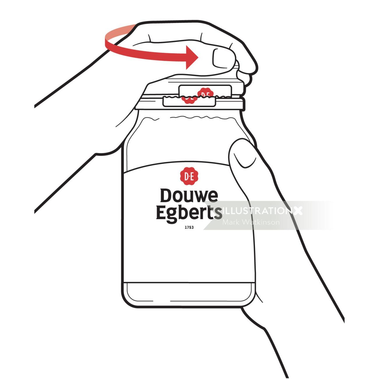 Medicine bottle illustration by Mark Watkinson