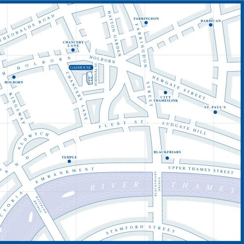 Vector illustration of street map
