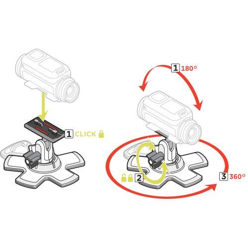 Technical illustration of 360 degree camera