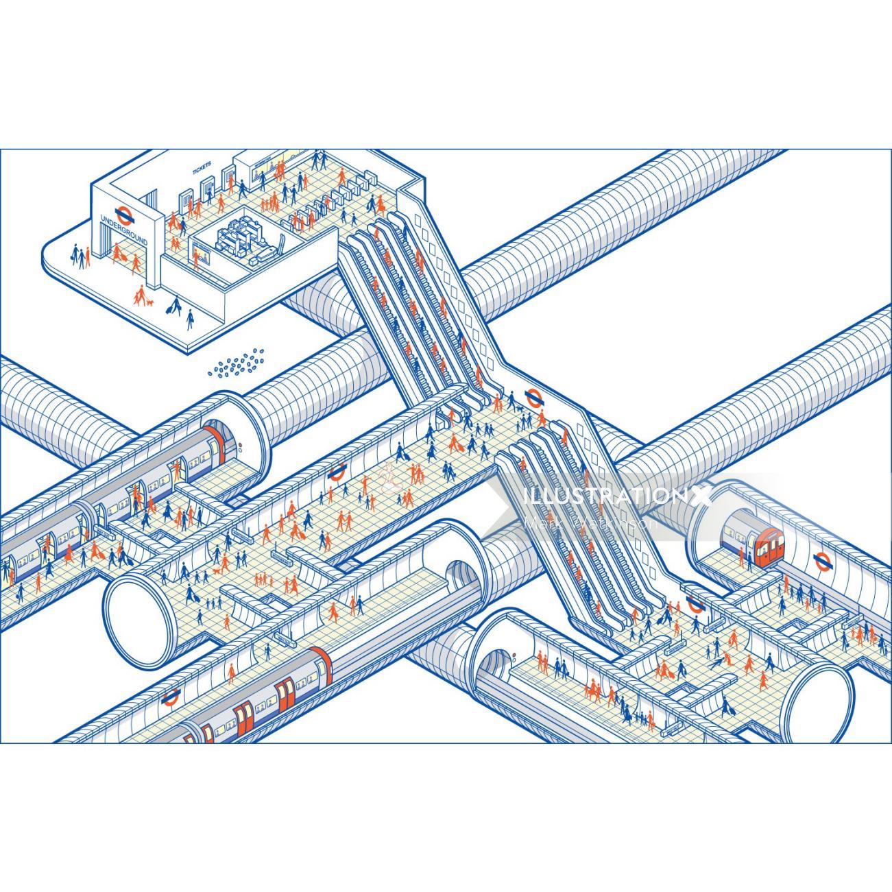 Tube Cutaway infographic design