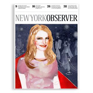 Editorial illustration of newyork observer