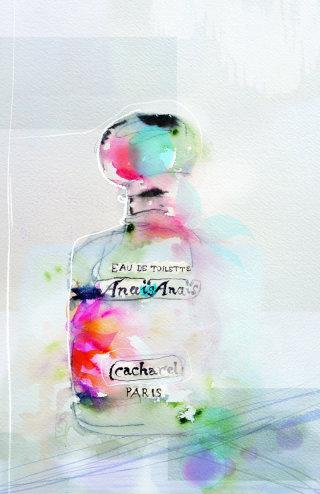 Illustration of perfume bottle