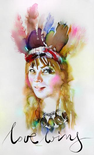 Watercolor Portrait of a lady