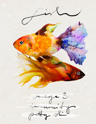 Aquarium fishes illustration by Marta Spendowska