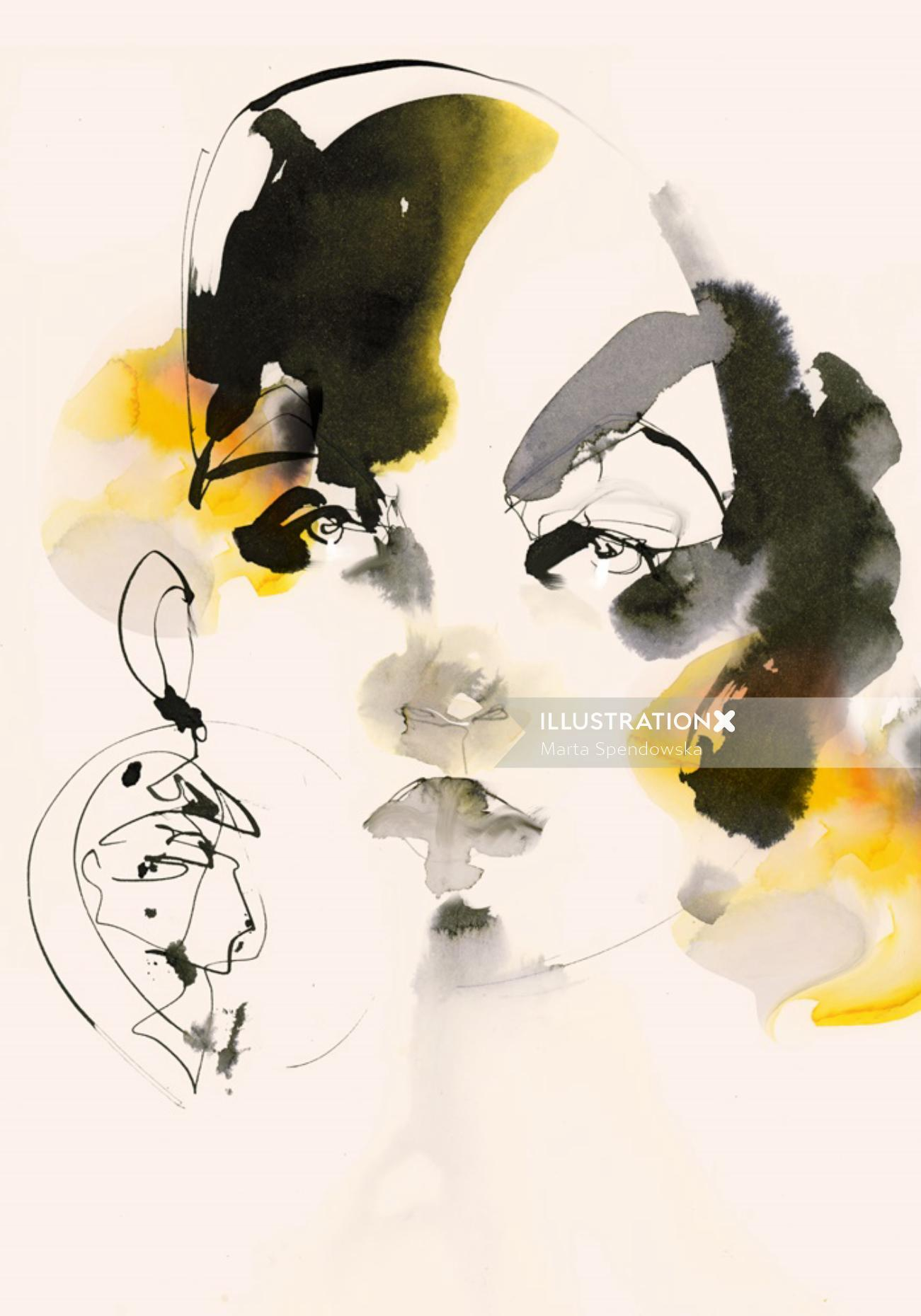 Abstract illustration of a lady