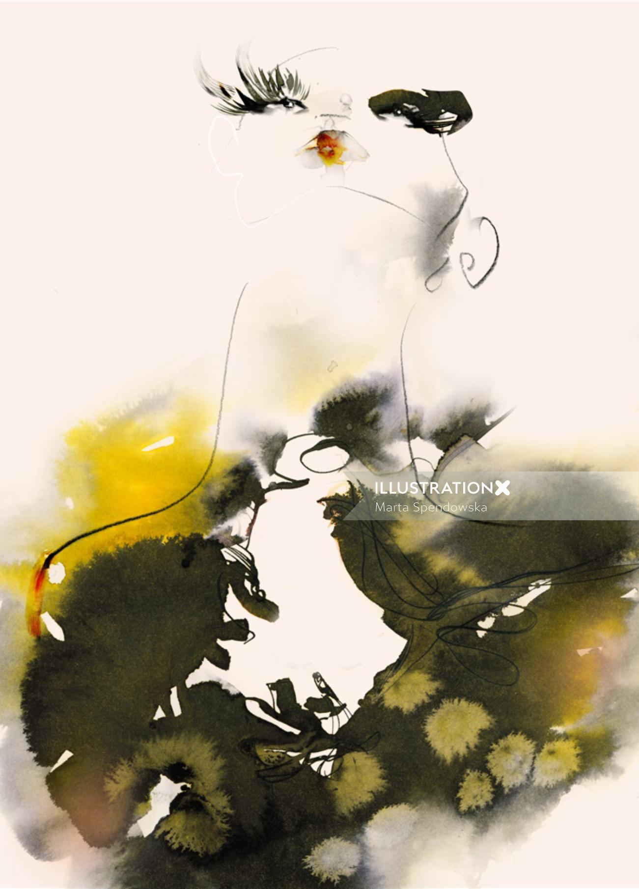 Abstract illustration of a woman