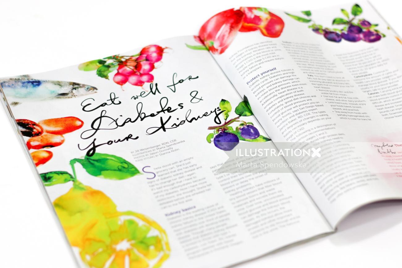 Watercolor food veggies by Marta Spendowska