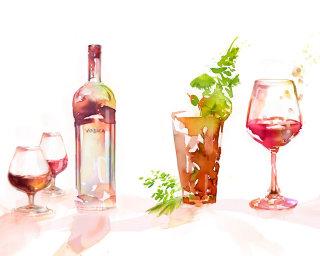 Beverage - Watercolor painting