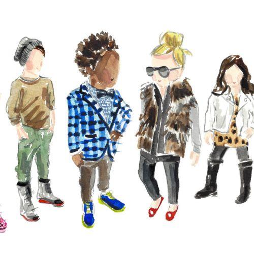 Fashion illustration by Martha Napier