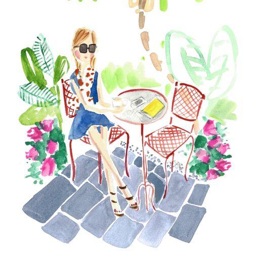 Martha Napier Illustratrice internationale de mode de vie et de mode. Etats-Unis