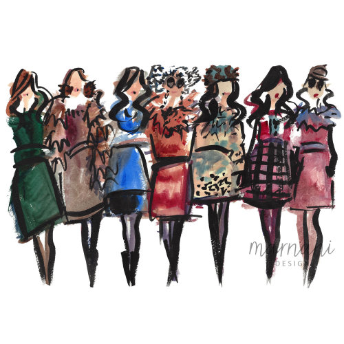 Fashion, Whimsical, Gestural, Figures, Fashion Forward, Runway, Blogger, Editors