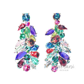 A closeup illustration of some cocktail earrings
